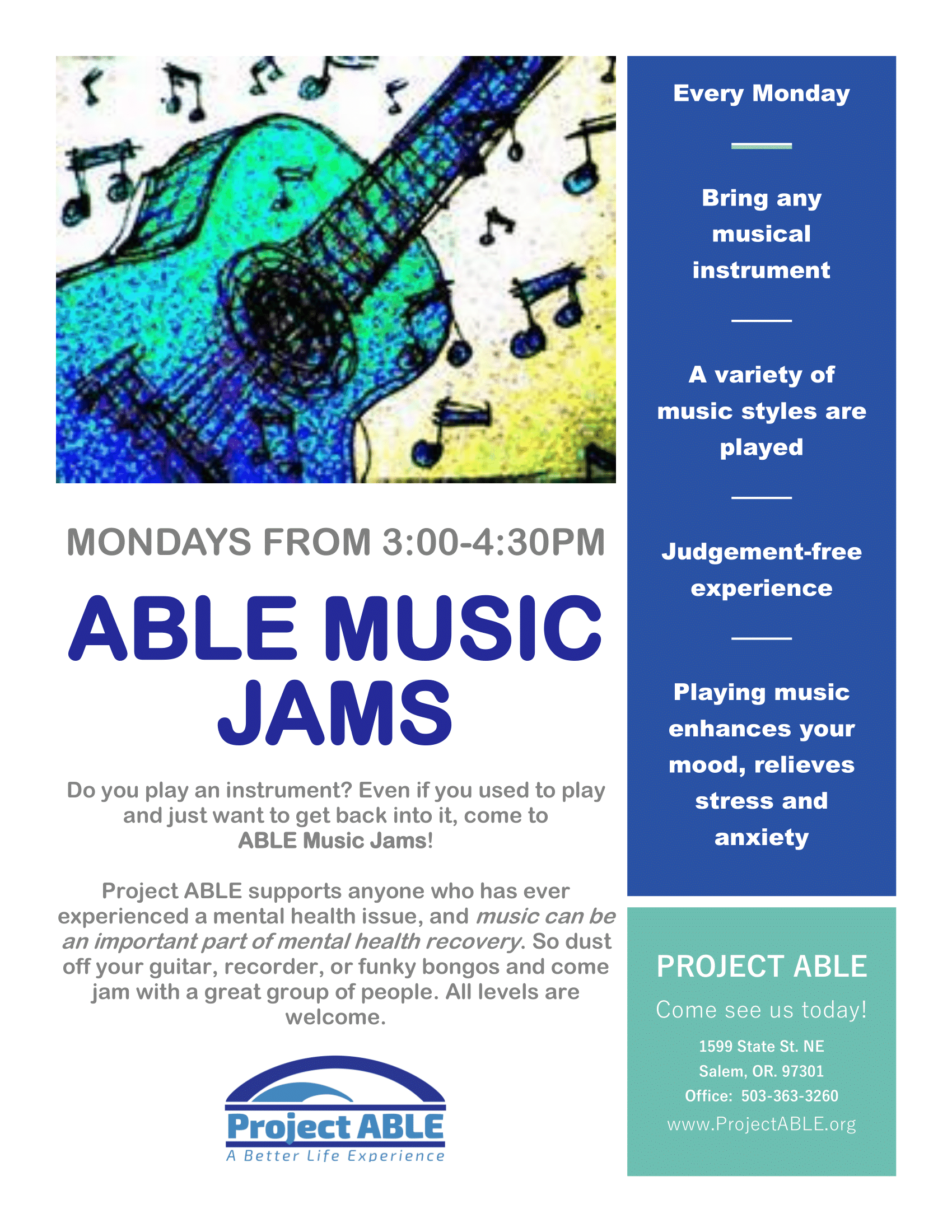 ABLE Music Jams (Salem)